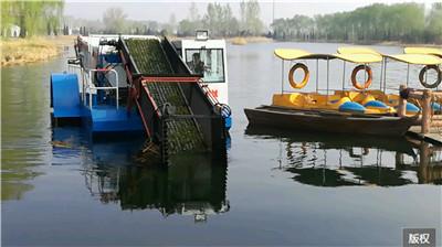 收割打捞水草一体船