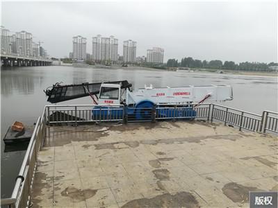 广东惠州水葫芦收割船