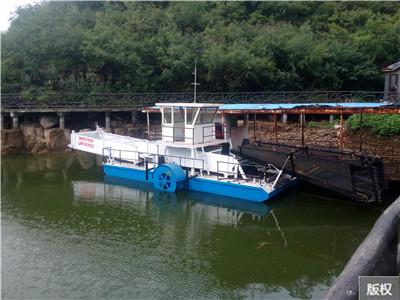 清理河道淤泥杂草收割船