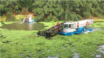 清理河道淤泥和浮萍的船设备