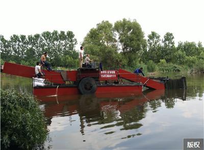半自动水草收割船