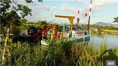 絞吸式環保河道清淤挖船